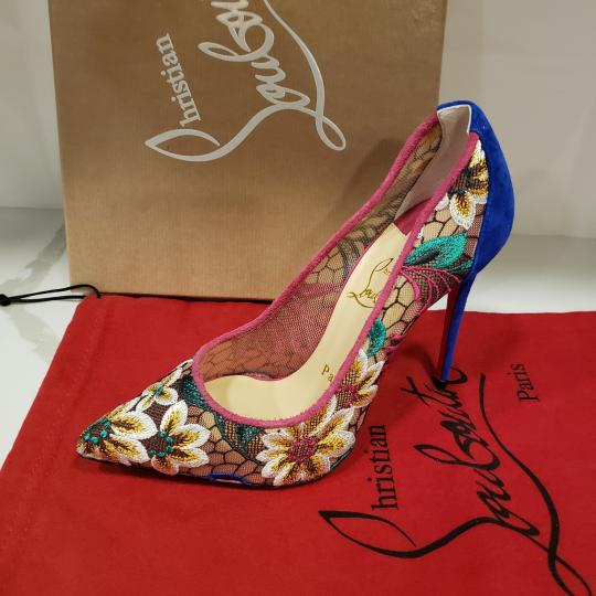Christian Louboutin Heels Lace Floral Follies Multi Pumps Image 7