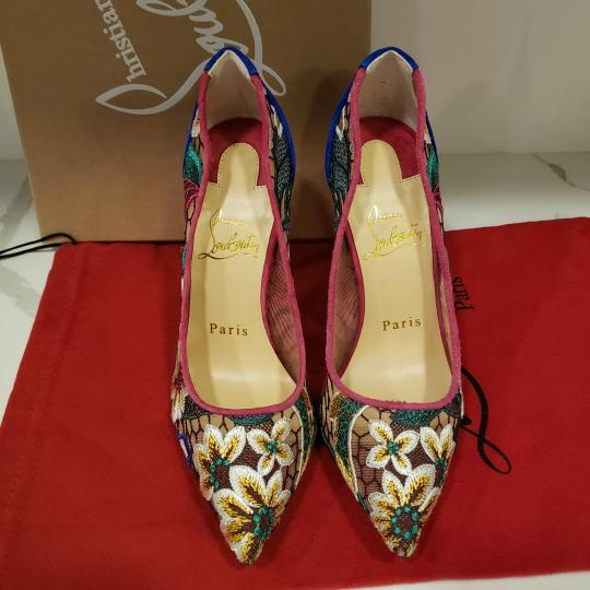 Christian Louboutin Heels Lace Floral Follies Multi Pumps Image 9