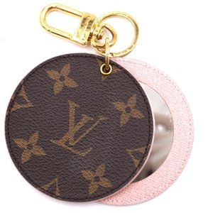 Louis Vuitton RARE Monogram LV key ring chain holder with Mirror