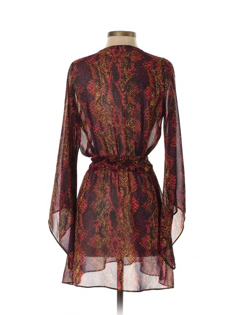 DV by Dolce Vita short dress Purple Fit And Flare A-line Snakeskin Chiffon Belted on Tradesy Image 1
