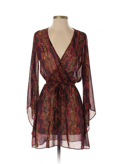 DV by Dolce Vita short dress Purple Fit And Flare A-line Snakeskin Chiffon Belted on Tradesy Image 2