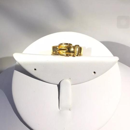 Hermès Gold Scarf-Ring with Buckle Design Image 1