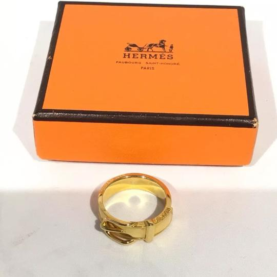 Hermès Gold Scarf-Ring with Buckle Design Image 4