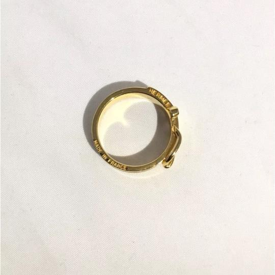 Hermès Gold Scarf-Ring with Buckle Design Image 6