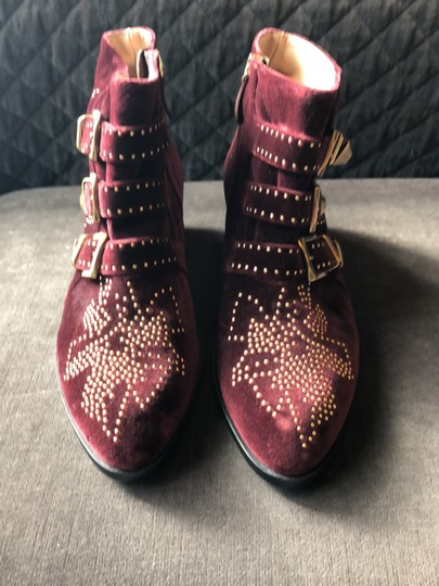 Chloé Maroon Boots Image 1