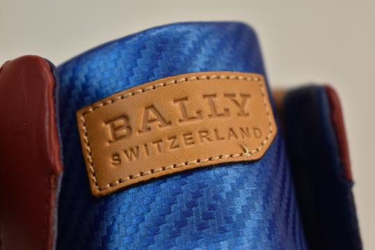 Bally Multicolor Herick White Red Blue Leather Hi Top Stripe Logo Sneakers 11 Us 44 Shoes Image 7