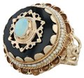 Other Victorian Style Opal Glass Pearl Ring - 14k Size 8 Tiered Cocktail Image 0