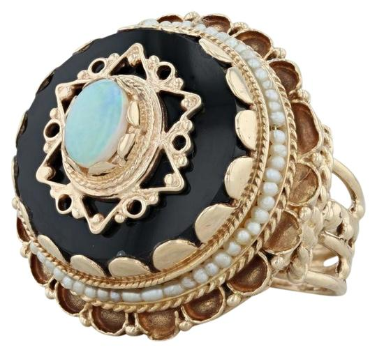 Preload https://img-static.tradesy.com/item/24851356/yellow-gold-victorian-style-opal-glass-pearl-14k-size-8-tiered-cocktail-ring-0-1-540-540.jpg