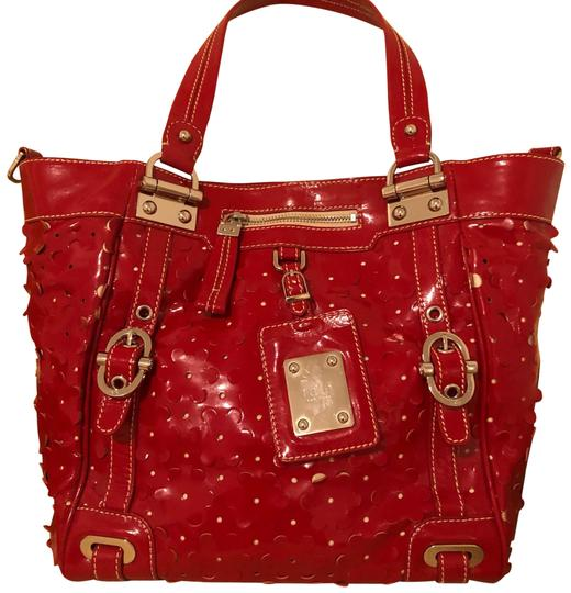 Preload https://img-static.tradesy.com/item/24851368/lotus-flower-camilla-red-patent-leather-tote-0-1-540-540.jpg