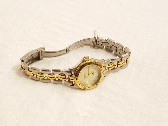Fossil Fossil Gold Tone Watch Luminous Hands Rotating Bezel Image 3