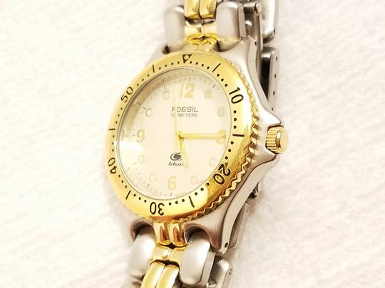 Fossil Fossil Gold Tone Watch Luminous Hands Rotating Bezel Image 4