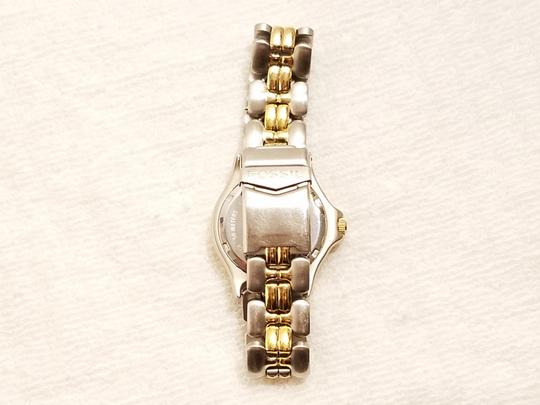 Fossil Fossil Gold Tone Watch Luminous Hands Rotating Bezel Image 5
