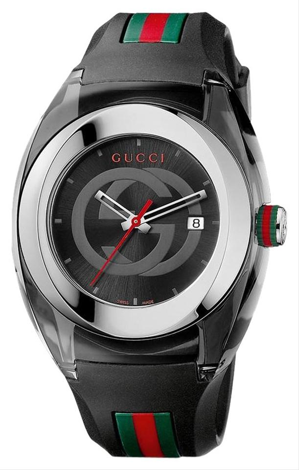 bb4044cb656 Gucci Black Sync Xxl Stainless Steel with Rubber Bracelet Ya137101 Watch  Image 0 ...