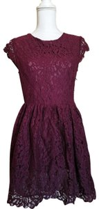 Divided by H&M short dress red Ballerina Lace Short Mini on Tradesy