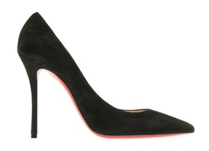 Christian Louboutin Heels Stiletto Decoltish Suede Black Pumps