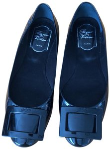 Roger Vivier Black Gomette Patent Leather Flats Size US 6.5 Regular ... 4aef0a7afb7e3
