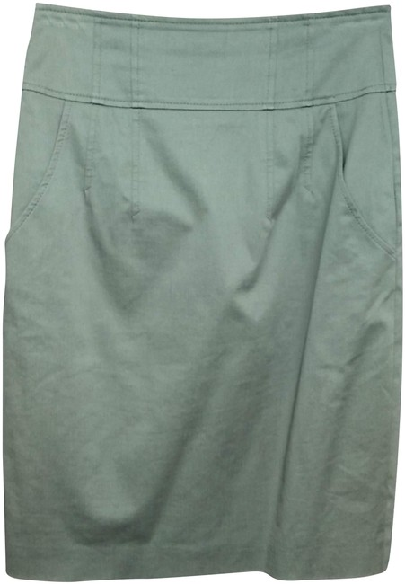 Item - Gray By Cotton Blend Pencil Skirt Size 6 (S, 28)
