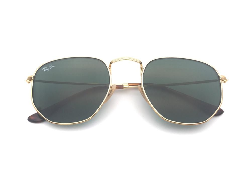 1217af3cfb462a Ray-Ban Classic Green Unisex Hexagonal Rb3548n 001 Sunglasses - Tradesy