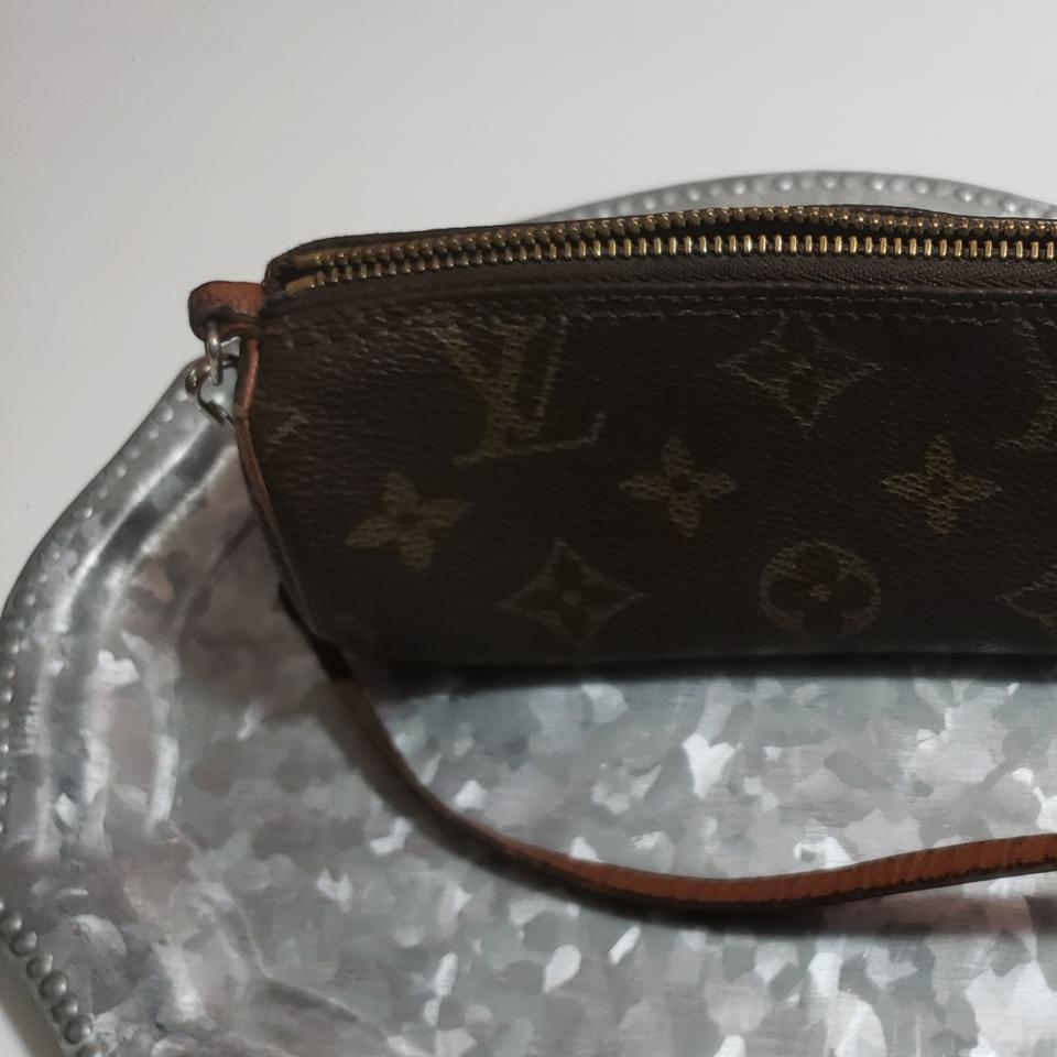 3ef3f0849ae3 Louis Vuitton Papillon Mini Leather and Canvas Wristlet Cosmetic Bag ...