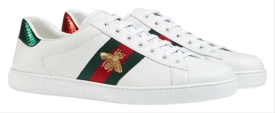 76840c903f6 Gucci Ace Water Snake Embroidered Leather Sneakers Sneakers Size EU ...