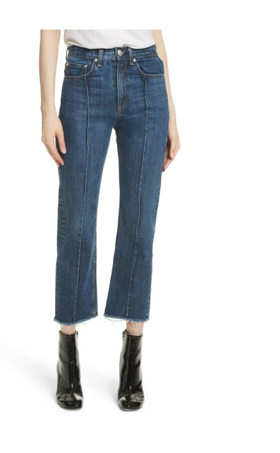 Item - Dagmar Medium Wash Frayed Ankle Straight Relaxed Fit Jeans Size 2 (XS, 26)