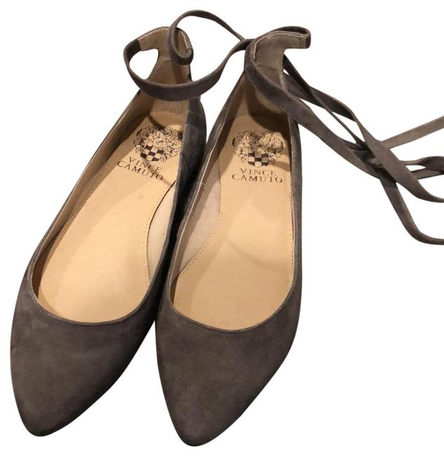 Item - Grey Tie Flats Size US 4.5 Regular (M, B)