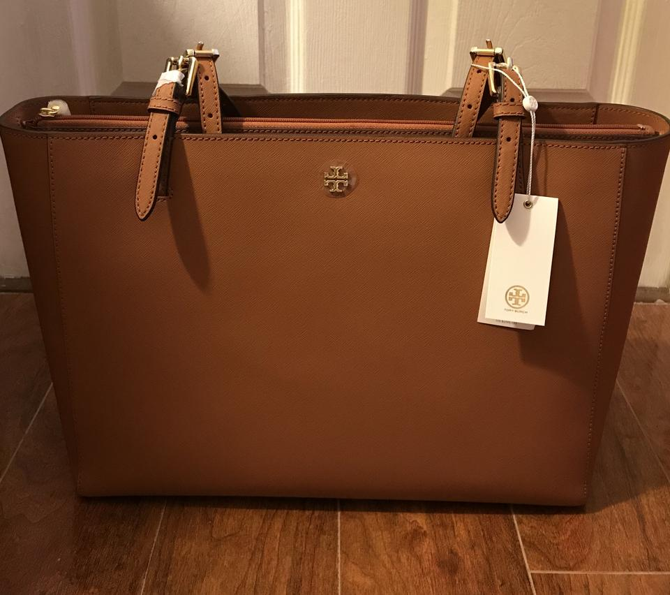 57194a963aa6 Tory Burch Sale York Emerson Buckle Large In Luggage Tiger s Eye ...