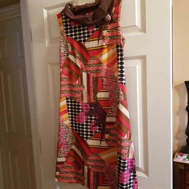 Item - Multi Colored Long Short Casual Dress Size 4 (S)
