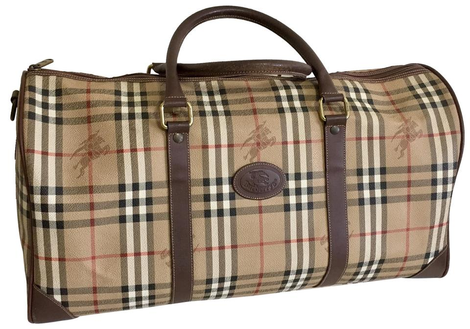 132ea6d2ca3e Burberry Nova Check Large Unisex Travel Weekender Brown Patent ...