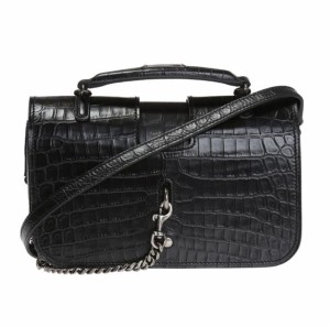 Saint Laurent Crocodile Ysl Leather Cross Body Bag