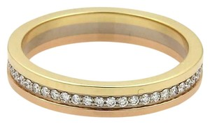 Cartier Cartier Diamond 18k Tricolor Gold 3.5mm Band Ring Size 46-US 3.75 Cert
