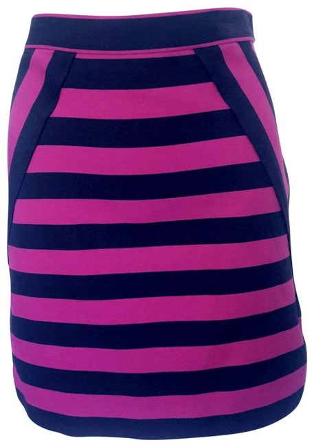 Item - Black & Pink Striped Skirt Size 6 (S, 28)