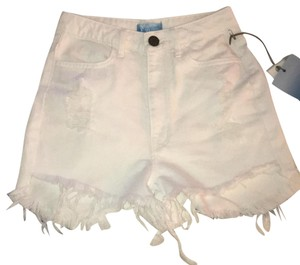 Show Me Your Mumu Cut Off Shorts White