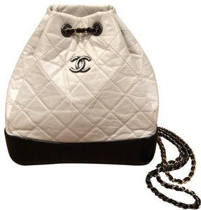 Chanel Quilted Chain Calfskin Crossbody Backpack