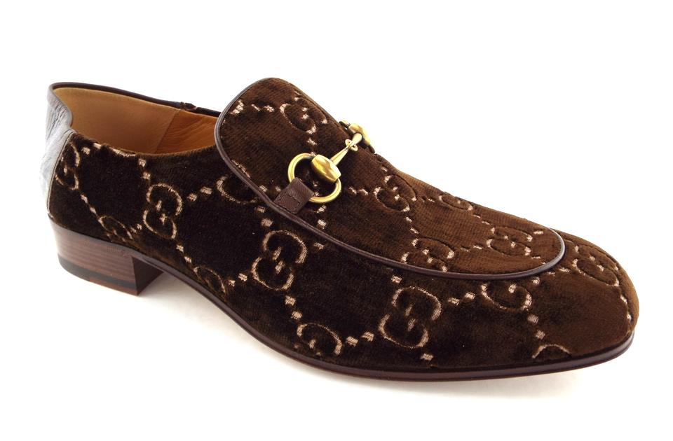 f33258865 Gucci Cocoa Brown Horsebit Gg Logo Convertible Slip-on Loafers 9.5/8.5uk  Shoes ...