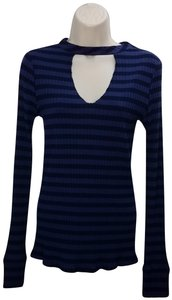 Twenty Asos Knit Stripes Top Blue