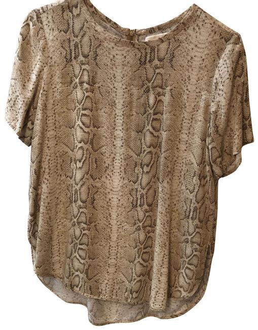 Item - Tan Copper Gold Snakeskin Blouse Size 4 (S)