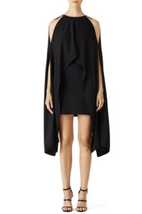 KAUFMANFRANCO Cocktail Cape Short Classy Winged Dress