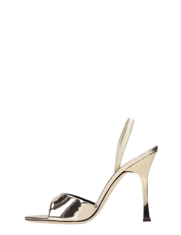 b1222a04385d1 Giuseppe Zanotti Platinum Kellen Shooting Patent Leather Sandals ...