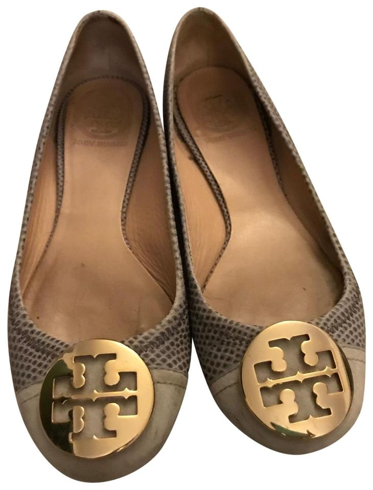 d64eae5a6 Tory Burch Light Blue  reva  Leather Embossed Ballet Flats Size US 7 ...