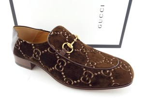 Gucci Cocoa Brown Horsebit Gg Logo Convertible Slip-on Loafers 10.5us/9.5uk Shoes
