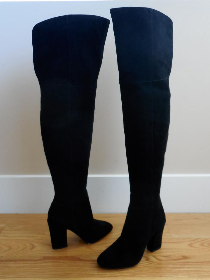 12b0149b101 Louise et Cie Over The Knee Over The Knee 5 5 Otn Vernon Black Boots Image.  1234567