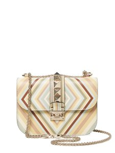 Valentino Glam Lock Rockstud Native Couture 1975 Striped Color Cross Body Bag