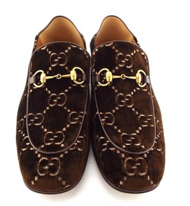 Gucci Cocoa Brown Horsebit Gg Logo Convertible Slip-on Loafers 11us/10uk Shoes