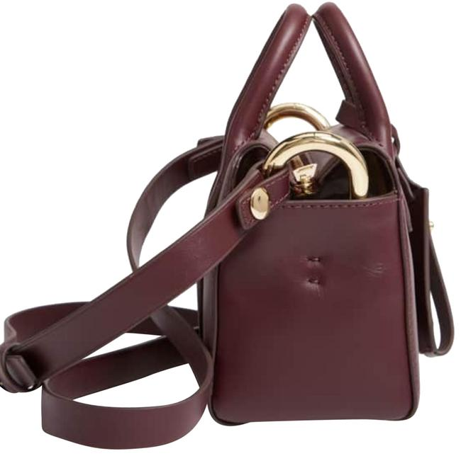 Item - Mini Harper Satchel Burgundy Leather Cross Body Bag