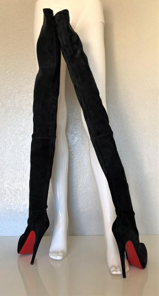 874ce7d871904 Christian Louboutin Thigh High Over The Knee Black Boots Image 11.  123456789101112