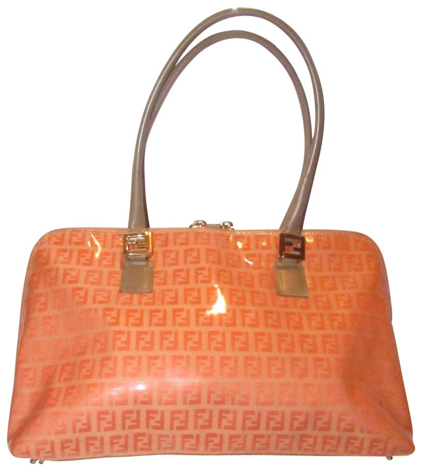 f0fa99a95828 Fendi Rare Color Combo Mint Vintage Wallet Available Le Rich Oranges Taupe  Satchel in dark ...