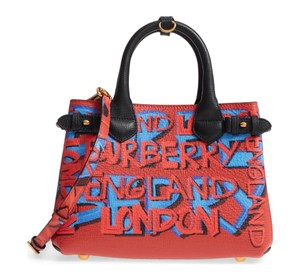 65b465ea5a3a Added to Shopping Bag. Burberry Satchel in Black. Burberry Small Banner  Graffiti Black Leather Satchel