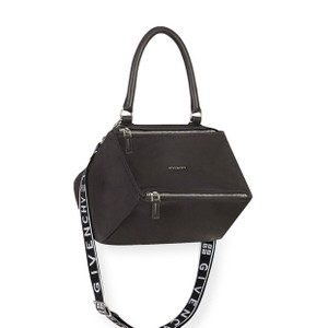 2f6c662258 Givenchy Pandora Large Logo Shoulder Strap Black Calfskin Leather ...