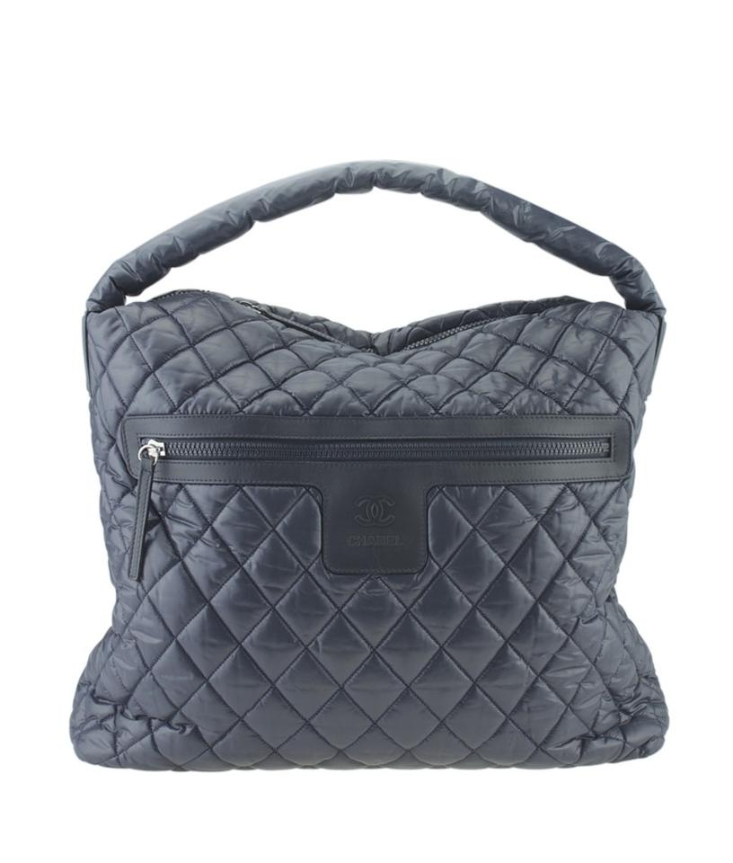 4ca0693f80c9 Chanel Cocoon Hobo Coco Quilted (166416) Blue Nylon Hobo Bag - Tradesy